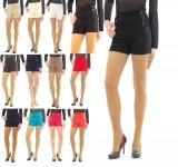Shorts hoher Bund mit Taschen seitlich Taille kurze Hose Hot Pants Mini