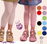 Kinder Leggings Leggins Spitze 60 den 7/8 110 122 - 146