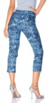 Mandarin Damen 7/8 Hose Jeans Bouclé Chino Polyester blau 011852