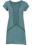 Rainbow Damen T-Shirt Longshirt kurzarm Bluse Tunika dunkelgrün Gr 36/38 956034