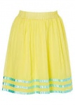 Bodyflirt Damen Rock Chiffonrock Minirock Mini Skirt gelb Gr. 40 945515