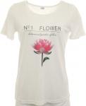 Corley Damen Shirt bedruckt T-Shirt Top Tunika Bluse wollweiß 357631