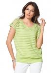 Vivance Damen 2-in-1 Shirt Top Bluse Tunika Streifen grün Gr. 38 416463