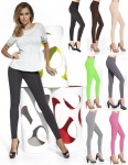 Leggings Leggins Hose lang weich blickdicht Röhre Treggings Stretch Gabi 200den