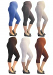 Umstand Hose Capri 3/4 Leggings Leggins Umstandsleggings blickdicht Baumwolle