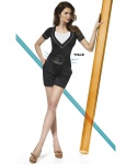 Fashion Shorts kurze Hose Mode hoher Bund Taille mieder Short Stretch Kelly