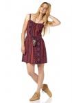 AJC Spaghettikleid Trägerkleid Kleid Mini Ethno-Druck feuerrot Gr. 34 480702