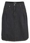 Cheer Jeansrock Rock Jeans knielang Denim Skirt schwarz 401306