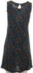Chillytime Jerseykleid Kleid ärmellos Blumen Muster blau Gr. 32 346960