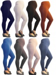 Umstand Umstandsleggings lang Leggings lange Hose Wäsche Baumwolle Leggins