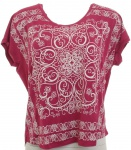 Aniston T-Shirt Tunika Bluse Top Shirt Hemd Print Muster Fuchsia Viskose 249890