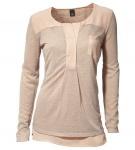 B.C. Damen 2-in-1 Shirt Top Bluse Tunika beige 196916