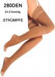Stützstrümpfe Straps-Strümpfe Kompressionsstrümpfe Stocking 280DEN 22-27mmHg