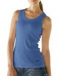 B.C. Damen Shirttop Shirt Top Tanktop ärmellos blau 002542
