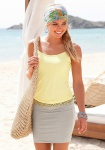 Beach Time Damen Strandkleid Kleid Spaghetti-Träger gelb sand 144434