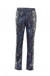 B.C. Damen Druck-Leggings Druckhose Hose Gummibund Polyester blau grau 026120