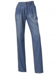 B.C. Damen Jeanshose Hose Jeans Falten Denim Chino Stretch blue stone 143824