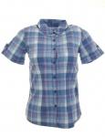 Flashlights Damen Karobluse Bluse Karo Hemd Shirt Tunika blau kariert 655112