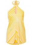 Bodyflirt Neckholder Top Halter Neck Bluse Shirt weiss gelb Streifen 945404