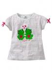 BPC Kinder T-Shirt Kurzarm Punkte Schleifen Shirt Baumwolle Gr. 116/122 955992