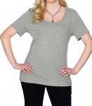 Sheego Damen T-Shirt Kurzarm Shirt Top Tunika Bluse grau 174348