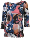 Travel Couture Druckshirt Shirt Blumen Print 3/4 Arm Bluse Tunika bunt 168596
