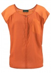 Laura Scott Damen Chiffon-Bluse Shirt Top Tunika ärmellos Hemd orange 700639