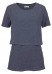 Boysens Damen Longshirt Layering Shirt Lagenlook Tunika Bluse blau 499803