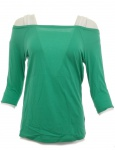 Damen H.I.S Shirt Tunika Bluse Top T-Shirt Grün Baumwolle 469571