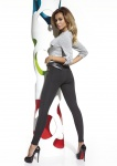Leggings Leggins Hose lang mit Taschen weich warm fleece plush 200den Marika