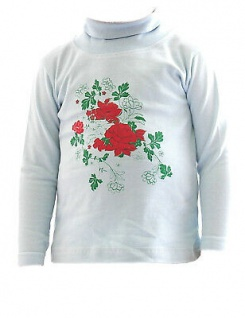 Kinder Mädchen Rollkragenpullover Shirt Langarm Pullover Rosen BFL-HN-02 - Vorschau 5