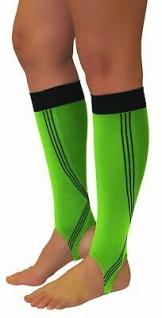 Elastische Sport Kompressions Stulpen Knie Strümpfe Steg Beine Laufen 0408-02 - Vorschau 5
