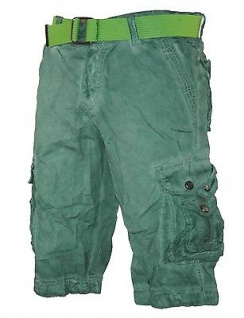 Herren kurze Hose Jeans lange Shorts Bermuda Cargo Caprihose mit Gürtel XH-22817 - Vorschau 5