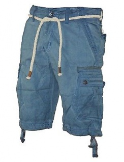 Herren Jeans kurze Hose lange Cargo Shorts Bermuda Caprihose mit Gürtel 8835 - Vorschau 5