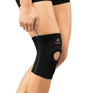 Kniebandage NEOPREN Kniescheibe gepolstert Schienen seitlich Fixierung 9903-01 - Vorschau 4