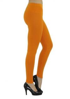 Damen Leggings lang hoher Bund verstärkt Hose blickdicht Baumwolle Leggins - Vorschau 5
