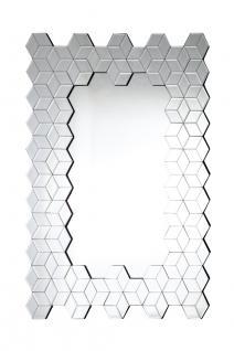 "Spiegel "" Cube"", 4 mm Glas, Rahmen aus Glas, Rückwand aus Holz, MDF, B80 x H12..."