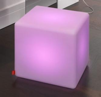 Moree Cube LED Leuchtwürfel / Sitzwürfel, beleuchtet, B 44, L 44, H 45 cm, PE...