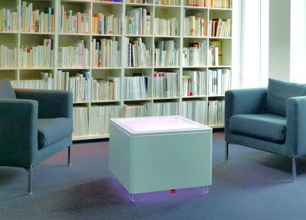 Moree Ora Leucht-Tisch mit Holzkorpus, LED beleuchtet, L 60 cm, W 60 cm, H 45... - Vorschau 2