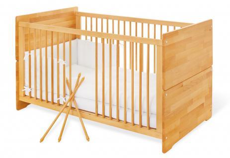 Pinolino Kinderbett, natur, aus Buche, vollmassiv und geölt mit Hartöl auf Le...