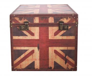 Kiste / Truhe verschließbar, Motiv Union Jack, Vintage / Used-Look, spritzwas...