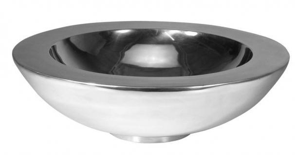 Schale, rund, doppelwandig, aus Aluminium, hochglanzpoliert, in 2 Größen erhä...