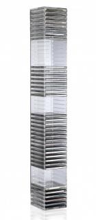 Hochwertiger Acryl-Glas CD BLU-Ray Ständer / Wandregal mit Rückwand und Unter... - Vorschau 2