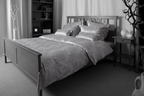 Seiden-Bettwäsche, grau, elegeanter Luxus-Seiden-Bettbezug, hochwertig genäht...