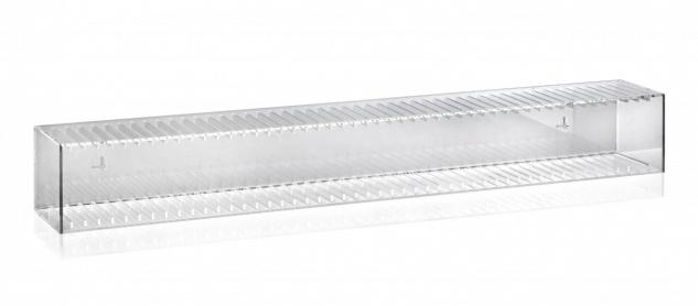 Hochwertiger Acryl-Glas CD BLU-Ray Ständer / Wandregal mit Rückwand und Unter... - Vorschau 3