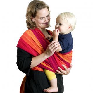 Baby-Tragetuch aus Baumwolle, L500 x B80 cm, Belastbarkeit max. 18 kg, in 2 F...