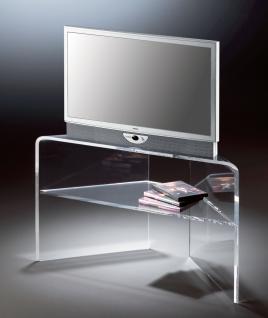 Hochwertiger Acryl-Glas TV-Eck-Tisch, TV-Eck-Rack, klar, 20 / 90 x 35 cm, H 5...