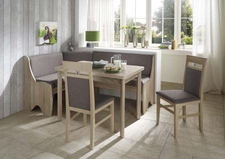 Truhen-Eckbankgruppe Eiche Sonoma Dekor; Eckbank, 2 Stühle und Vierfußtisch, ...