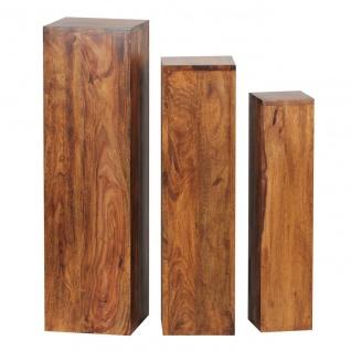 Beistelltisch 3er Set Massivholz, Tische, Holztisch Natur-Produkt, Echtholz B...