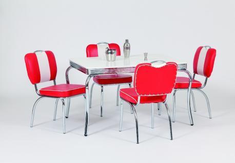 """Tischgruppe """" San Francisco"""", American Diner Style; Bistrotisch und 4 Bistrost..."""